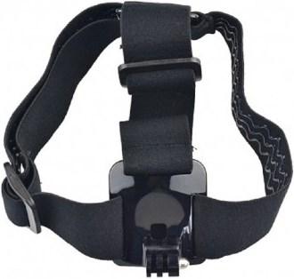 Эластичное крепление экшн камеры на голову или шлем